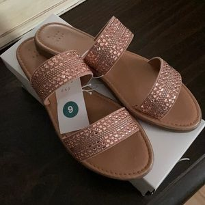 A New Day Rose Gold Kersha Sandals